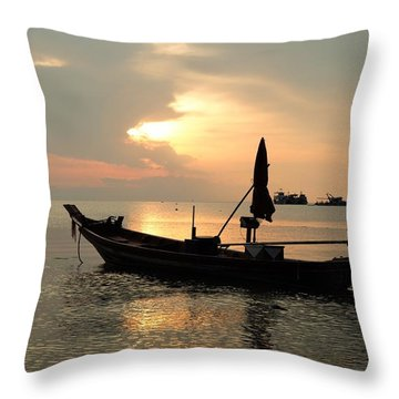 Ko Tao In Evening Throw Pillow