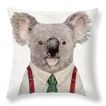 Koala Throw Pillow by Animal Crew
