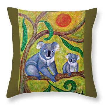 Koala Sunrise Throw Pillow