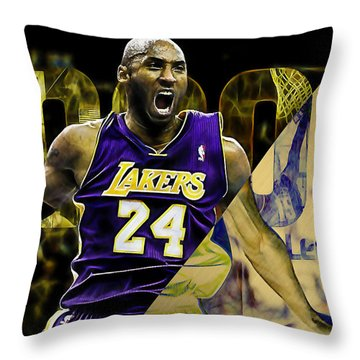 Kobe Bryant Collection Throw Pillow by Marvin Blaine