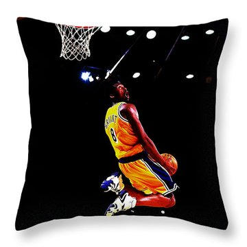 Kobe Bryant In Flight 08a Throw Pillow
