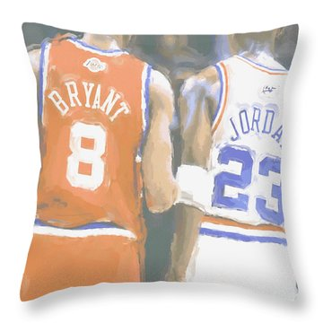 Kobe Bryant Michael Jordan 2 Throw Pillow