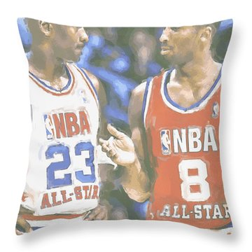 Kobe Bryant Michael Jordan Throw Pillow