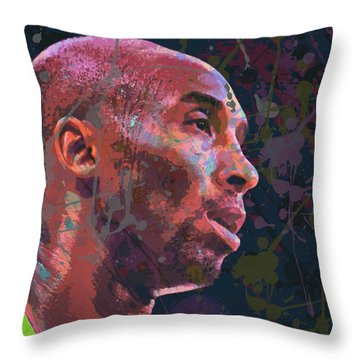 Throw Pillow featuring the painting Kobe by Richard Day
