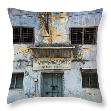 Kochi Spices Throw Pillow by Marion Galt