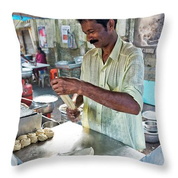 Throw Pillow featuring the photograph Kochi Stall by Marion Galt