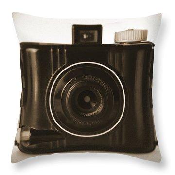 Kodak Baby Brownie Throw Pillow by Mike McGlothlen