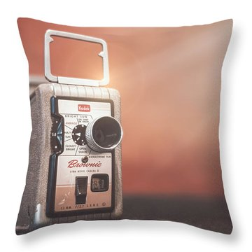Kodak Brownie 8mm Throw Pillow