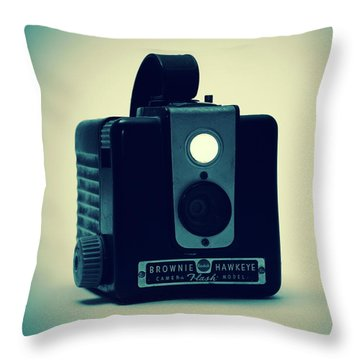 Kodak Brownie Throw Pillow