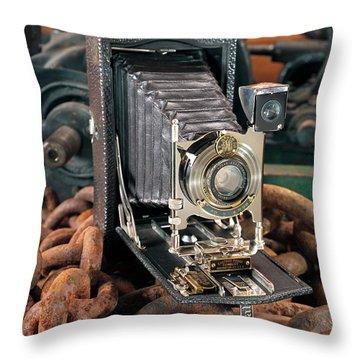 Kodak No. 3a Autographic Camera Throw Pillow