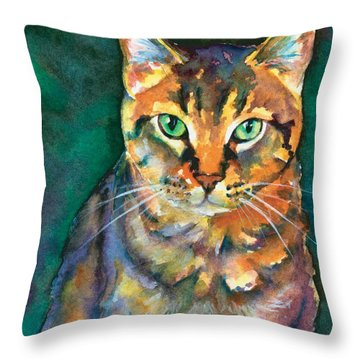 Throw Pillow featuring the painting Kodi by Christy Freeman