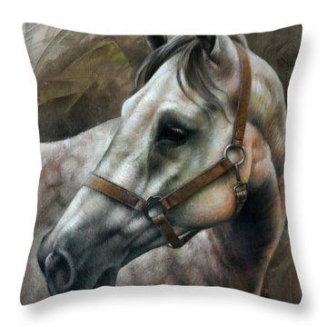 Kogarashi Throw Pillow by Arthur Braginsky