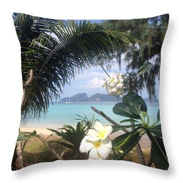 An Island Far Away Throw Pillow