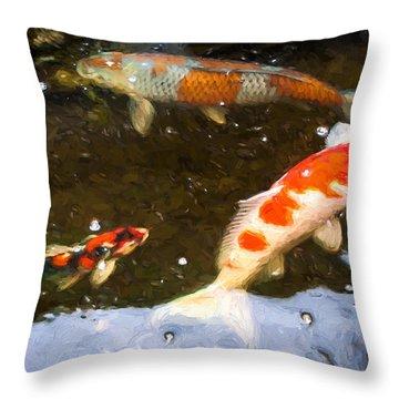 Koi 2 Throw Pillow
