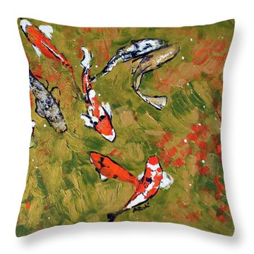 Koi 201746 Throw Pillow by Alyse Radenovic