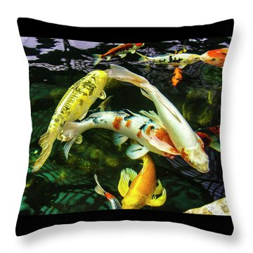 Throw Pillow featuring the photograph Koi 2018 2 by Phyllis Spoor