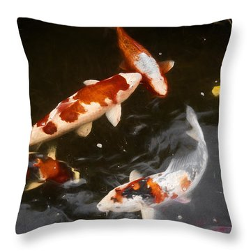 Koi 3 Throw Pillow