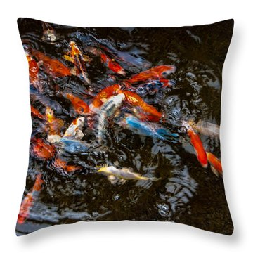 Koi 4 Throw Pillow
