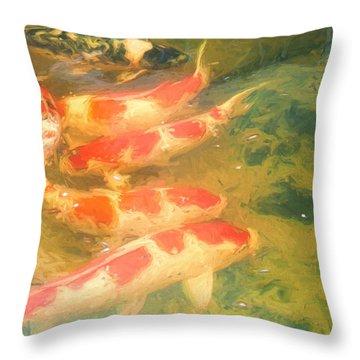 Koi 5 Throw Pillow