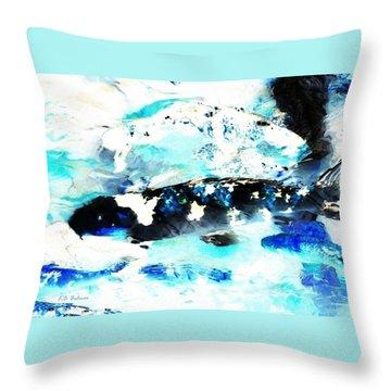 Koi Abstract 2 Throw Pillow