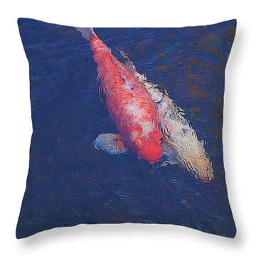 Koi Fish Partners Throw Pillow