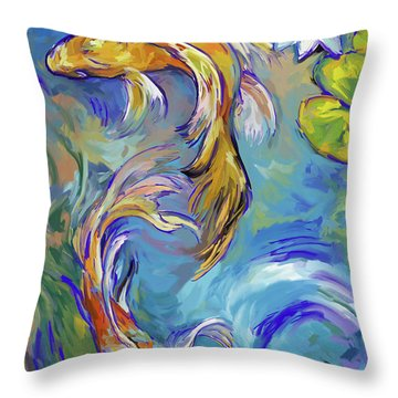 Koi Fish2 Throw Pillow