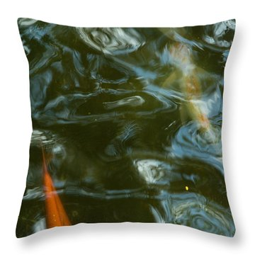Throw Pillow featuring the photograph Koi II by Break The Silhouette