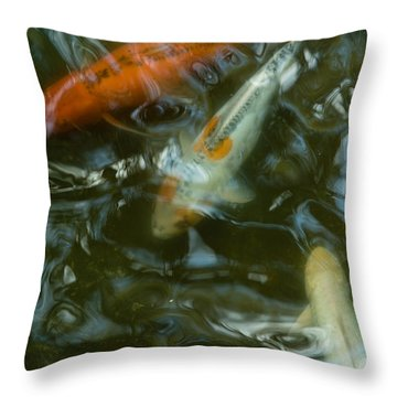 Throw Pillow featuring the photograph Koi IIi by Break The Silhouette