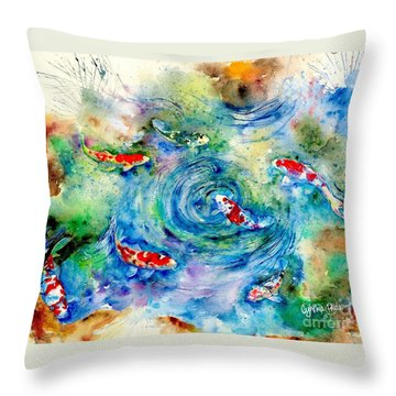 Koi Joy Throw Pillow