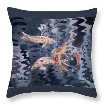 Koi Pond Throw Pillow by Donald Maier