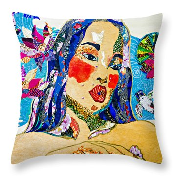 Koi Princess Throw Pillow