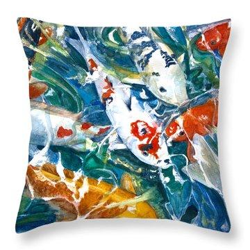 Koi Sparkle Throw Pillow by Patricia Allingham Carlson