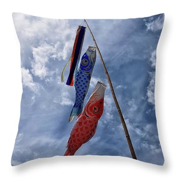 Koinobori Throw Pillow