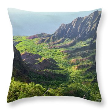 Kokee Park Throw Pillow