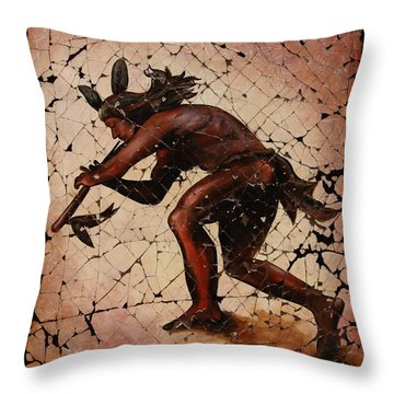 Kokopelli The Flute Player  Throw Pillow by Lena  Owens OLena Art