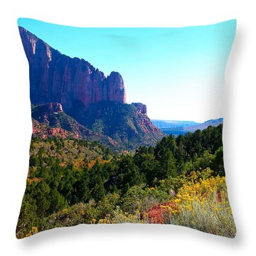 Kolob Canyon Throw Pillow