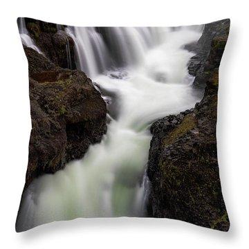 Throw Pillow featuring the photograph Kolugljufur Waterfalls by Tom Singleton