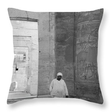 Kom Ombo Temple Throw Pillow