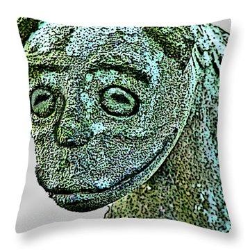 Komainu03 Throw Pillow