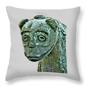 Komainu03 Throw Pillow