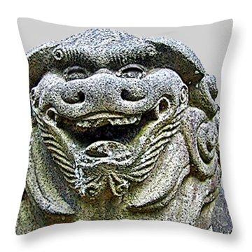 Komainu04 Throw Pillow
