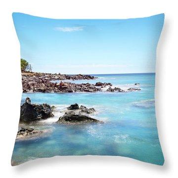 Kona Hawaii Reef Throw Pillow by Joe Belanger