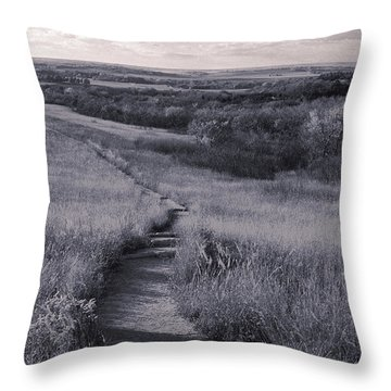 Konza Treking Throw Pillow by Thomas Bomstad