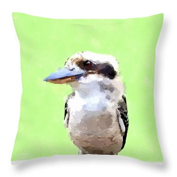 Kookaburra Throw Pillow by Chris Butler