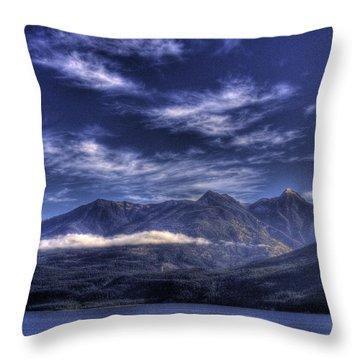 Kootenai Lake Bc Version 2 Throw Pillow