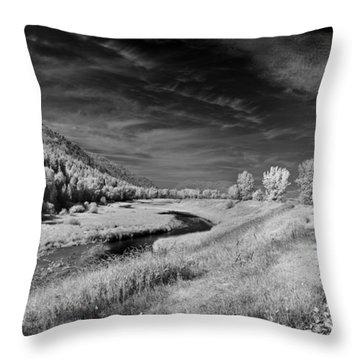 Kootenai Wildlife Refuge In Infrared 2 Throw Pillow