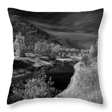 Kootenai Wildlife Refuge In Infrared 3 Throw Pillow