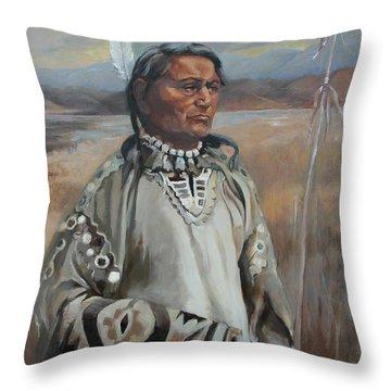 Kootenay Chief Throw Pillow