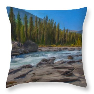 Kootenay River Throw Pillow