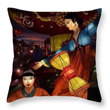 Korean Drummers Throw Pillow